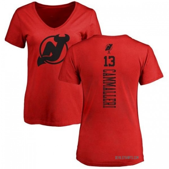 Women's Mike Cammalleri New Jersey Devils One Color Backer T-Shirt - Red