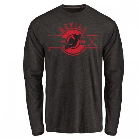 Youth Mike Cammalleri New Jersey Devils Insignia Tri-Blend Long Sleeve T-Shirt - Black